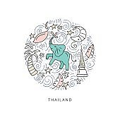Thailand Symbols Illustration
