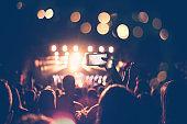 Festival concert crowd
