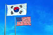 South Korea and United States (USA) flags.