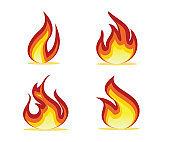 flame set design