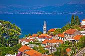 Splitska bay on Brac island view, Dalmatia region of Croatia
