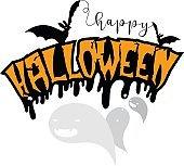 vector Halloween greeting card