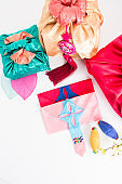 Korean traditional gift and colorful silk