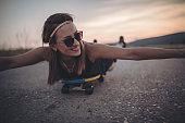 Charming girl skater