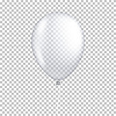 Realistic transparent balloon, isolated.