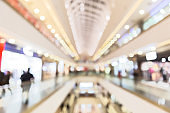 Abstract blur shopping mall with bokeh light