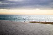 Barcelona sunrise at the beach