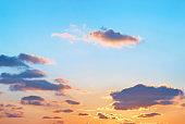 Romantic sunset with beautiful sky