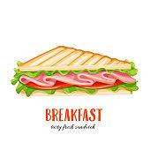 Vector sandwich wich ham