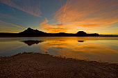 Stillwater Point Resevoir, Dawn, Austin, Nevada.