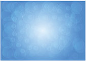 Blue bokeh abstract background, Vector illustration