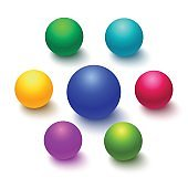 Colorful sphere or ball isolated
