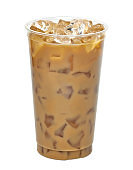 Iced coffee or caffe latte