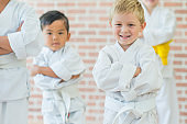 Young Children Taking a Martial Arts Class
