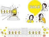 Illustration autumn sales