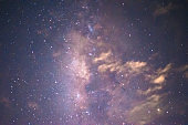 Stars and milkyway in night sky background