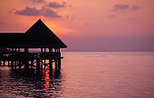 Over Water Bungalow in Sunset