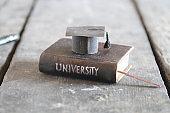 University Degree Concept, vintage composition