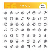 Line icons - food