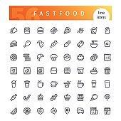 Food - line icons set