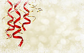 Winter background with twisted ribbons