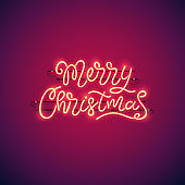 Merry Christmas Neon Banner