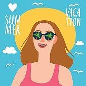 Lovely girl on summer vacation
