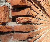 long wall made with bricks