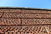 high wall in bricks