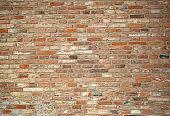 ancient wall of bricks