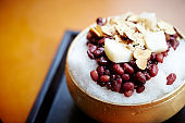 Shaved ice with azuki beans