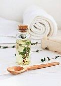 Essential thyme oil, Vertical.
