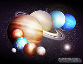 Planets of the solar system. Vector illustration