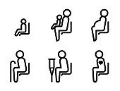 Priority Seat Line Icons