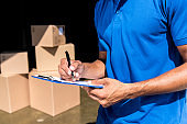 delivery man with documents