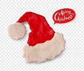 Hand made plasticine figure of Santa hat