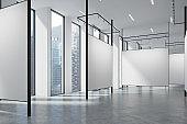 Gallery in a loft