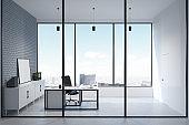 Elegant CEO office interior
