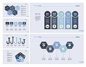 Six Finance Charts Slide Templates Set