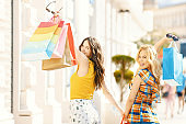 Beautiful Women in Shopping