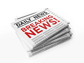 Breaking News Concept On White Background
