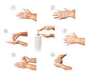 Hand washing medical procedure.