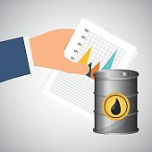 Flat illustration about Oil price, petroleum and gas concepts