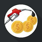 Flat illustration about Oil price, petroleum and gas concepts, vector