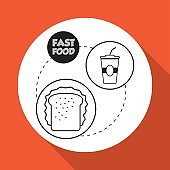 Flat illustration about fast food design