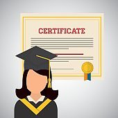 University design. graduation and education illustration