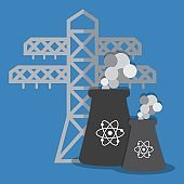 nuclear plant icon image