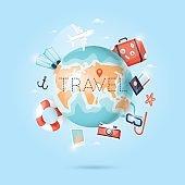 World Travel. Planning summer vacations.