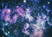 Milky way on the space background
