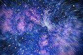 Magic space sky background